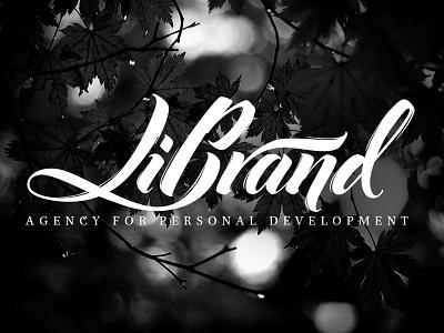 Logo for LiBrand avantgardefont ukrainianlogo orthodoxlogo lettering letters logotype churchlogo logo