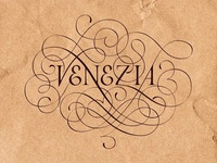 Lettering for calligraphic project in the Venice