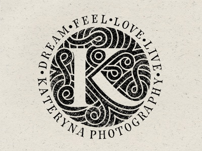 French gardens labyrinth and letter K monogram handmadetype handmadefont handmade logophoto lettering letters photographer calligraphy