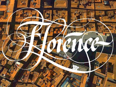 Florence flourish italycalligraphy logo logotype letters graphicdesign copperplatetype lettering firenze type florence calligraphy