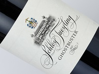 "Wine label for the castle ""Schloss Tüßling"""