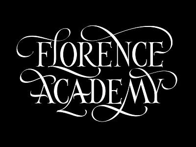 Florence Academy logo calligraphy