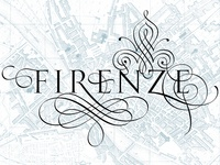 Florence - calligraphic idea of the city