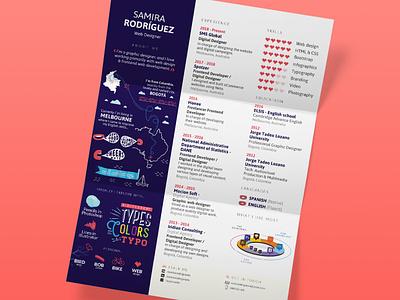 CV 2018 infographic resume typography flat vector design illustration icon infographic design infograhic cv