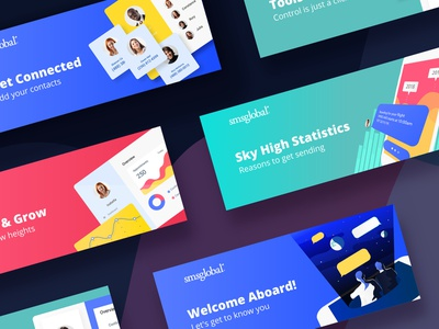 Direct Email Banners web vector email design email campaign direct marketing email banner flat illustration design