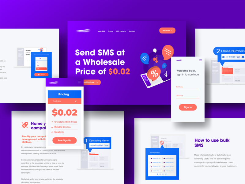 Site :: Upcoming Project typography ui design logo web vector icon illustration design