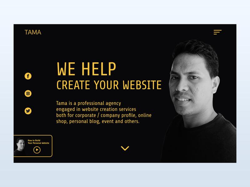 Tama Landing page