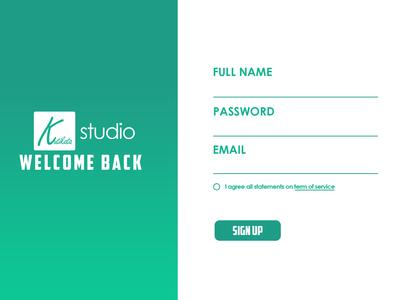 UI Design Sign Up Kutikata Studio