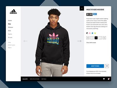 Adidas Ecommerce Site #DesignThrowbackChallenge web shop web design designthrowbackchallenge designthrowback ecommerce shop adidas webdesign website web idea flat ux identity branding concept ui design