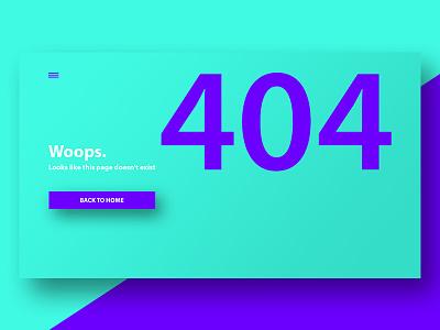 Woops 404 lost error interface flat ux ui web 404