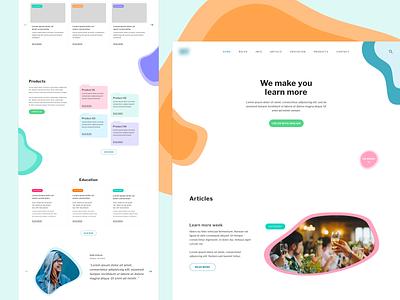 Playfull Web Design school colorful rebranding website design web design web website idea branding identity ux design ui concept playfull colors
