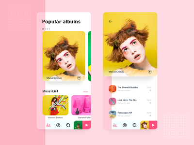Music Player APP songs playlist app albums music player ui