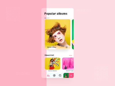Music Player Animation songs playlist albums music player app ui after effect animation