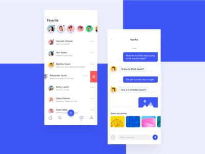 Social App Chat page
