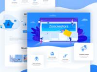 Zoocreator Website Page