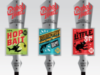 Rebel Toad Brewing Company Tap Handles