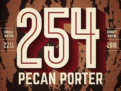 254 Pecan Porter Label homebrew porter pecan brew small batch craft label beer