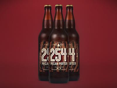 254  Pecan Porter Bottles bottles 22 ounces label brew craft beer local beer
