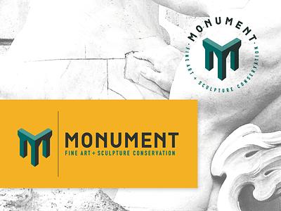 Monument Logo art monument statue restoration conservastion sculpture fine art