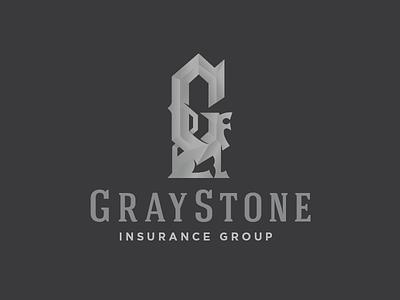 GrayStone Insurance Group mark g beast logo gargoyle stone grey gray