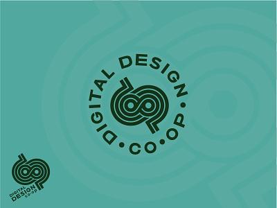 Digital Design CO•OP logo coop design digital monogram thick lines cooperative