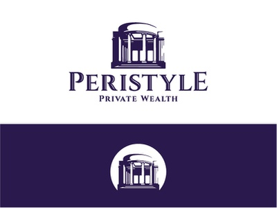 Peristyle Logo city park new orleans columns negative space architecture peristyle wealth management