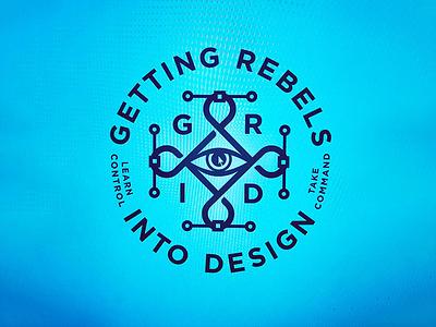 GRID Logo eye vector rebels grid pc mac beziercurves bezier eye of knowledge badge