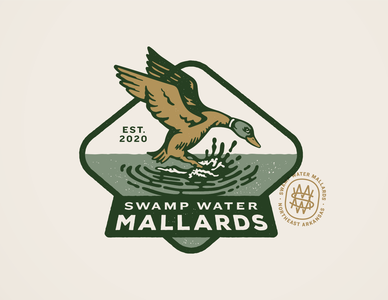 Swamp Water Mallards Badge