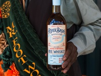 River Basin Distillery Branding stamp brand identity whiskey and branding branding rye spirits label packaging labeldesign label