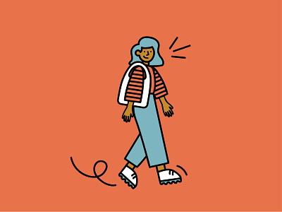 Little Boops character people color blocking branding design illustration