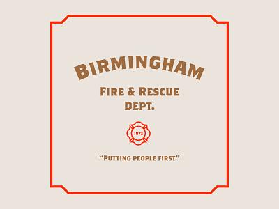 BF&RD firedepartment fire color blocking logo branding illustration design