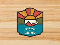 Get Up & Grind Sticker