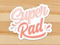 Super Rad Sticker