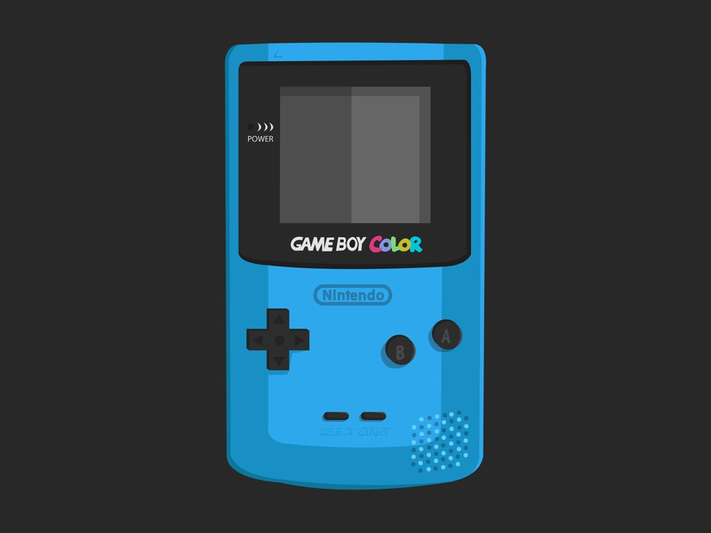 Game Boy Colour - Blue by Lauren Royal on Dribbble