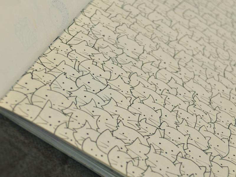 Cattern cats draw sketchbook nankin