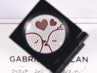 Wedding Card silkscreen serigrafia printing birds wedding