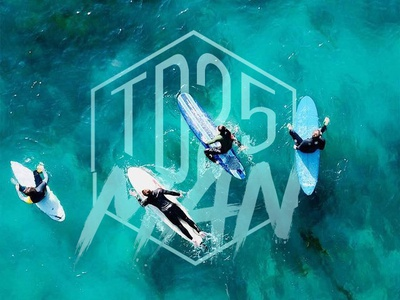 Tdman 25 brand logotype logo design supparom
