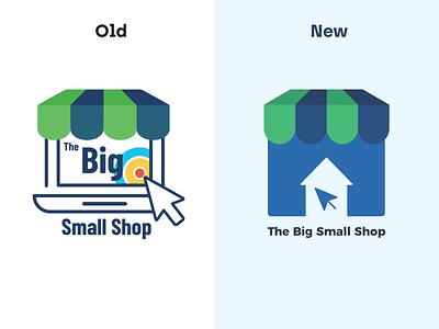The Big Small Shop logo redesign minimalism logodesign minimal figma vector illustration design ui logo design redesign logo