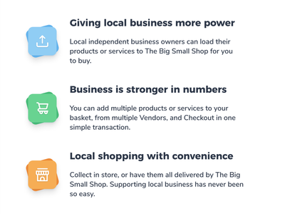The Big Small Shop web design update icons tailwind tailwindui tailwindcss web design webdesign website interface uidesign ui product design icon design icons