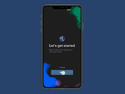 Make Me A Cocktail onboarding onboarding animation work in progress experimental smart animate figma app design app ux design ux uiux ui design product design ui