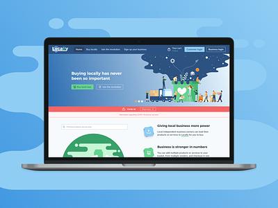 Locally Homepage complete rebrand website web design homepage figma illustration tailwindui tailwindcss tailwind ux design ux uiux ui design product design ui