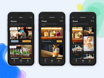 Make Me A Cocktail app evolution dark mode dark theme dark ui ios mobile application app design app ux design ux uiux ui design product design ui