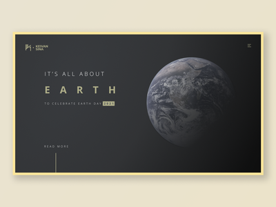 Earth earth day landing page golden gold website dark earth typogaphy ux ui design