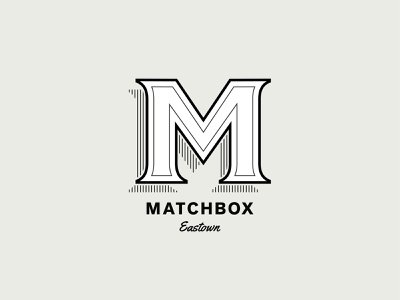 Matchbox Diner & Drinks branding typography logo