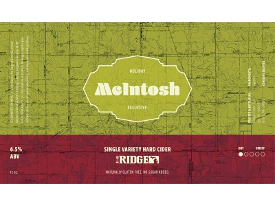 McIntosh Holiday Label alcohol branding graphic design design packaging label branding