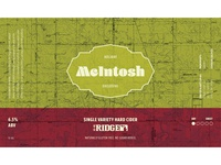 McIntosh Holiday Label
