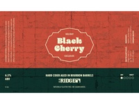 Black Cherry Holiday Label