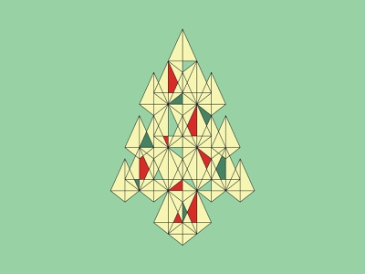 Geometric Christmas Tree holidays shapes graphic  design geometric christmas design