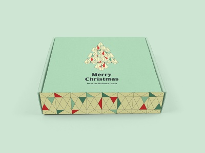 Bultema Group Client Gift Box christmas graphic design pattern creative agency packaging design