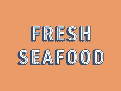 Fresh Seafood branding design graphic design restaurant branding typorgraphy